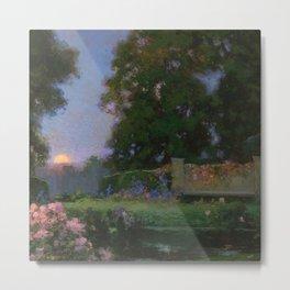 The Sanctuary (Flower Garden) by Thomas Mostyn Metal Print