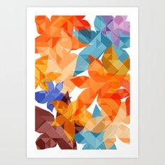 Geometric Floral II Art Print