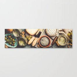 wine with cheese Canvas Print