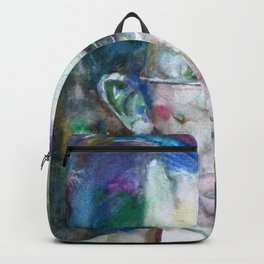 GUSTAV MAHLER - watercolor portrait.3 Backpack