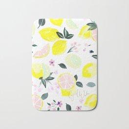 Pink Lemonade Citrus and Flowers Bath Mat