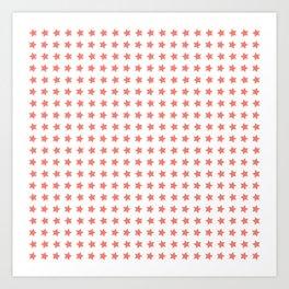 Pink stars patterrn Art Print
