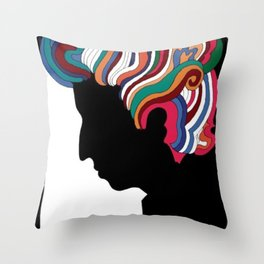 Vintage 1960's Bob Dylan Poster by Milton Glaser Throw Pillow