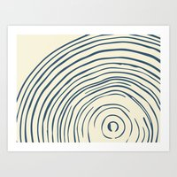 tree rings Art Prints featuring Tree Rings by Chase