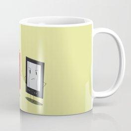 "Book vs Ebook ""Okay...but I'm retro"" Coffee Mug"
