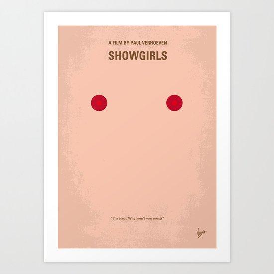 No076 My Showgirls minimal movie poster Art Print