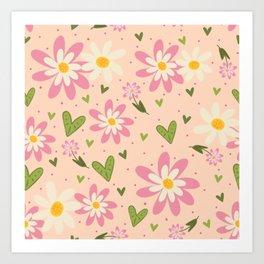 Faye's Flowers Art Print