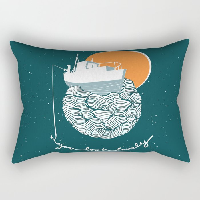 Fishing for Compliments Rectangular Pillow