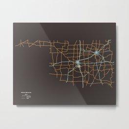 Oklahoma Highways Metal Print