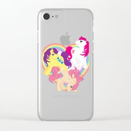 g1 my little pony Tales Characters Clear iPhone Case