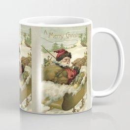 Vintage Santa retro xmas illustration Coffee Mug
