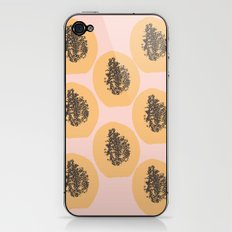 Papaya Print iPhone & iPod Skin