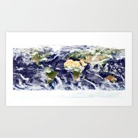planet Art Prints featuring PLANET by Planet Prints