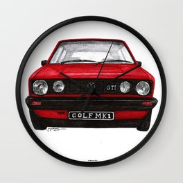 Golf Mk1 Wall Clock