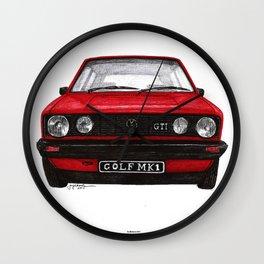 Golf Mk1 Wall Clock