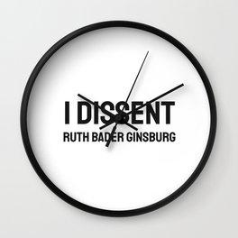 I Dissent RBG Ruth Bader Ginsburg Wall Clock