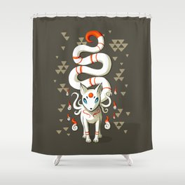 Long Tail Fox Shower Curtain