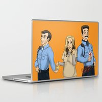 oitnb Laptop & iPad Skins featuring Daya, Bennet, & Pornstache OITNB by StephDere