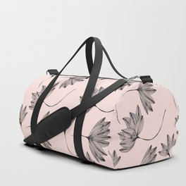 Pink Retro Floral Pattern-Mix and Match with Simplicity of Life Duffle Bag
