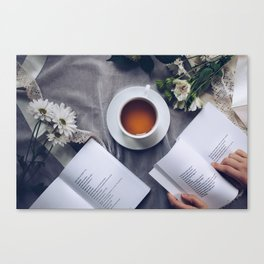 Coffee, Flowers & Poetry For Me, Please Canvas Print