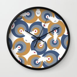 Mano Semilla/Hand Seed--Blue Wall Clock