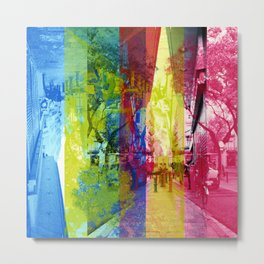 Overlap interrupting wrapped up in thoughts while. [CMYK] Metal Print