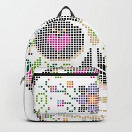 Create a Real Stitchery - Pixel Art - Day of the Dead, Cinco de Mayo, Calavera, Dia de los Muertos Backpack