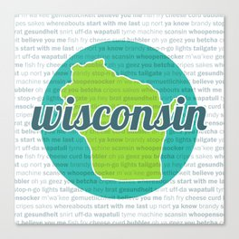 Words of Wisconsin Canvas Print