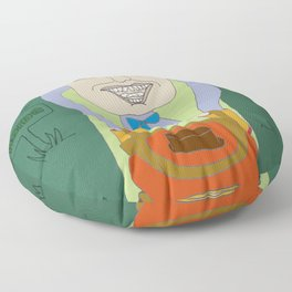Driving Crazy Lawn Mowing Floor Pillow
