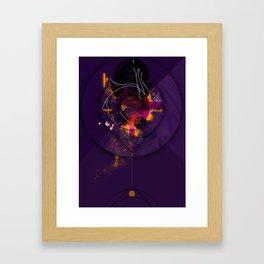 Spiral Geometric Dominance Framed Art Print