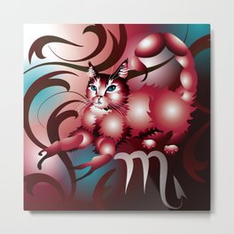 zodiacats scorpio Metal Print