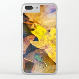Bigleaf Maple Leaves Clear iPhone Case