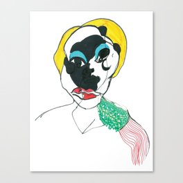 Portrait with epaulettes Canvas Print