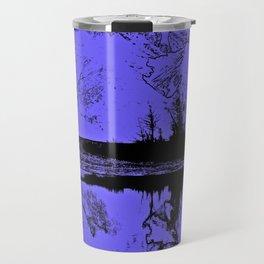Knik River Mts. Pop Art - 1 Travel Mug