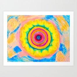 Vibrant Vibrating Mandala Art Print