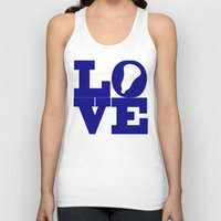 lacrosse Tank Tops featuring Lacrosse Love Navy Blue by YouGotThat.com