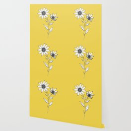 Wildflower line drawing | Botanical Art Wallpaper