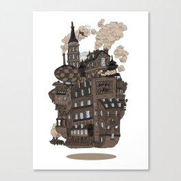Flying city. Canvas Print