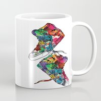 sneakers Mugs featuring Paint sneakers by Cindys