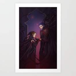 The man in the armor Art Print