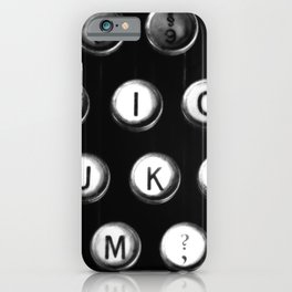 Typewriter keys iPhone Case