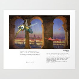 """Budapest"" en Mots & Image (French touch) by Matylda Konecka Art Print"