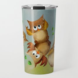 Owl crash Travel Mug