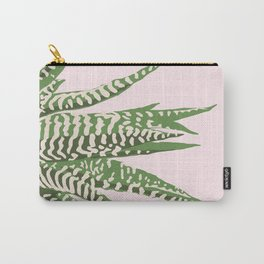 Desert Blossom - Pink and Green Succulent Carry-All Pouch