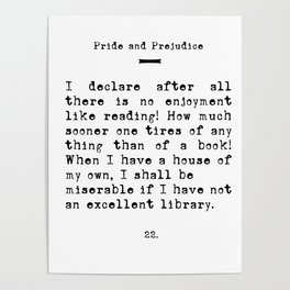 A Quote for Book Lovers Poster