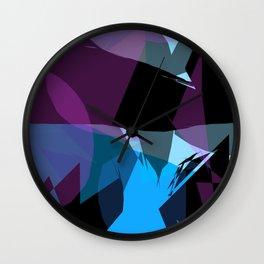 Transparent cool colors Wall Clock