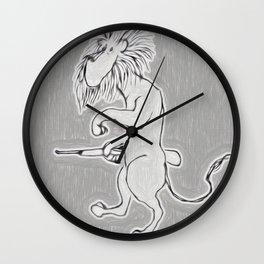 The Lion Hunter Wall Clock