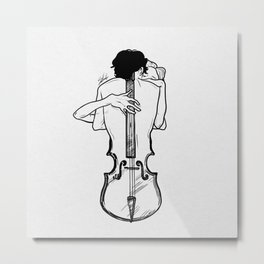 Violin hug Metal Print