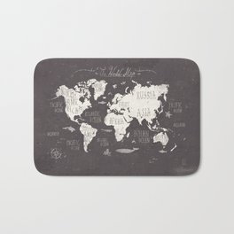The World Map Bath Mat