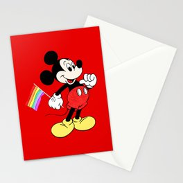 Mickey Mouse - Gay Pride - Gay Days - Pop Art Stationery Cards